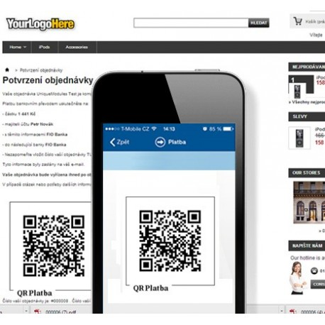 Bankwire payment with QR Code (CZ Only)
